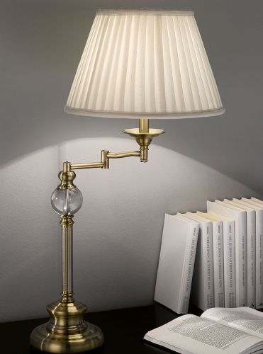 Franklite TL902 Bronze Table Lamp (Class 2 Double Insulated)